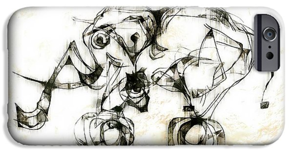 Abstract Digital iPhone Cases - Abstraction 2523 iPhone Case by Marek Lutek