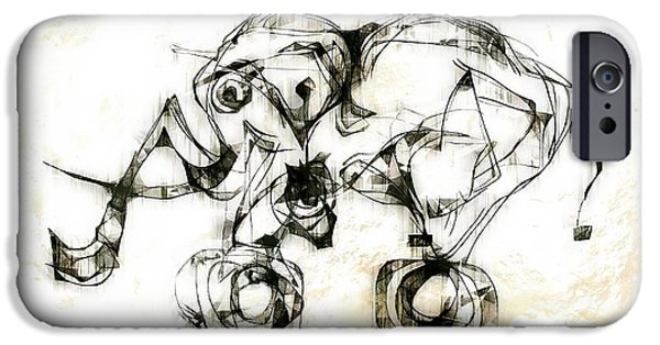 Abstract Digital iPhone Cases - Abstraction 2524 iPhone Case by Marek Lutek