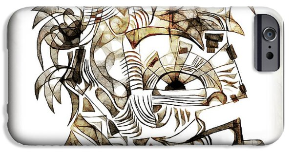 Abstract Digital iPhone Cases - Abstraction 2526 iPhone Case by Marek Lutek