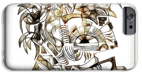 Abstract Digital iPhone Cases - Abstraction 2527 iPhone Case by Marek Lutek