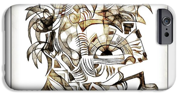 Abstract Digital iPhone Cases - Abstraction 2528 iPhone Case by Marek Lutek