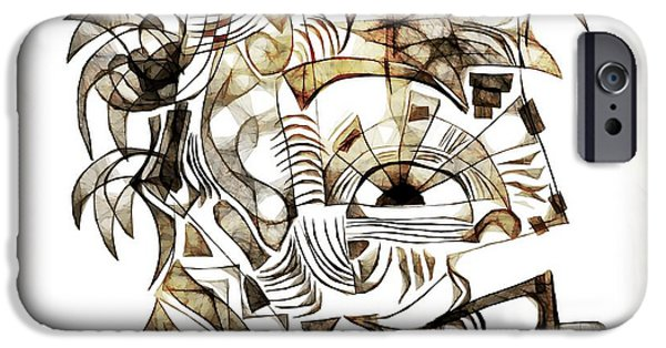 Abstract Digital iPhone Cases - Abstraction 2529 iPhone Case by Marek Lutek