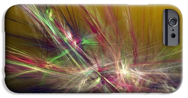 Expressionism Digital Art iPhone Cases - Abstracty 110310 iPhone Case by David Lane