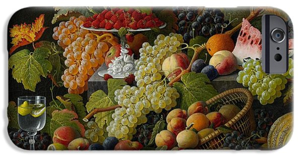 Best Sellers -  - Basket iPhone Cases - Abundant Fruit iPhone Case by Severin Roesen