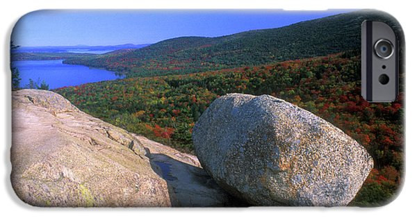 Jordan iPhone Cases - Acadia Bubble Rock iPhone Case by John Burk