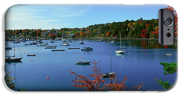Maine iPhone Cases - Acadia National Park In Autumn, Maine iPhone Case by Panoramic Images