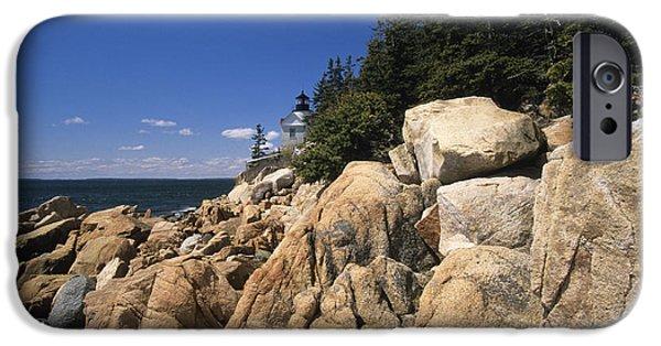 New England Lighthouse iPhone Cases - Acadia National Park Maine - Bass Harbor Head Lighthouse iPhone Case by Erin Paul Donovan