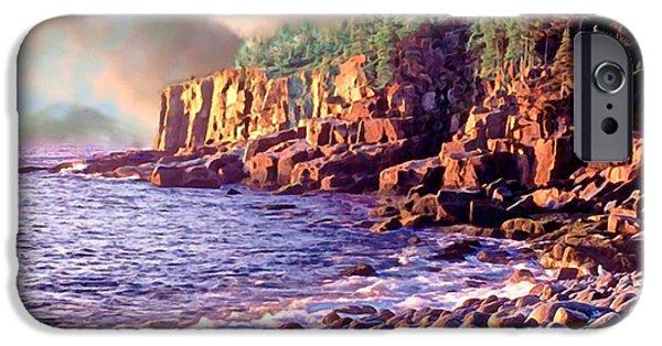 New England Lighthouse Mixed Media iPhone Cases - Acadia National Park iPhone Case by  Bob and Nadine Johnston
