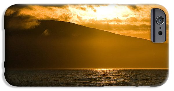 Sea iPhone Cases - Acadia National Park Sunset iPhone Case by Sebastian Musial