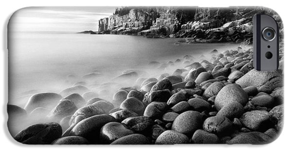 Coastal Maine iPhone Cases - Acadia Radiance - Black and White iPhone Case by Thomas Schoeller