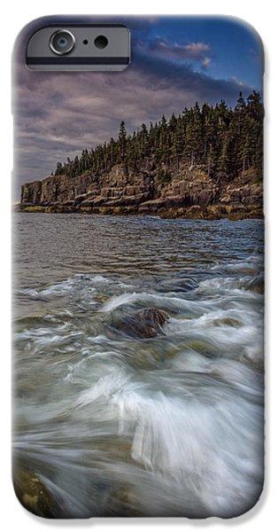 Maine iPhone Cases - Acadian Tide iPhone Case by Rick Berk