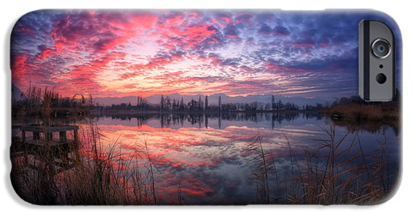 Fog Mist iPhone Cases - Accalmie iPhone Case by Girolamo Cracchiolo