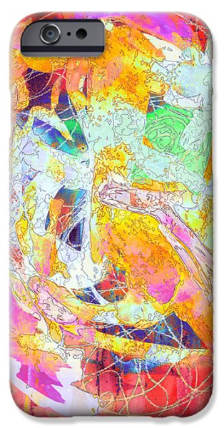 Abstract Digital Mixed Media iPhone Cases - Accidental Galaxy iPhone Case by Karen Gadient