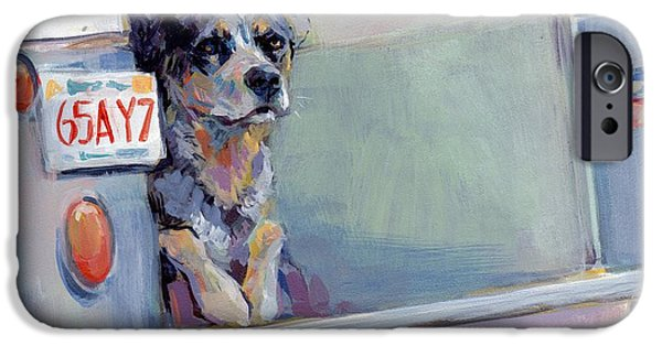 Cattle Dog iPhone Cases - ACD Delivery Boy iPhone Case by Kimberly Santini
