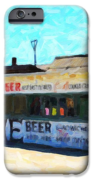 Acme Beer At The Old Lunch Shack At China Camp iPhone Case by Wingsdomain Art and Photography