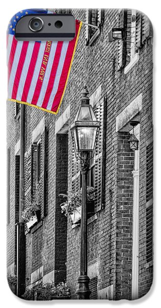 Boston iPhone Cases - Acorn Street Details SC iPhone Case by Susan Candelario