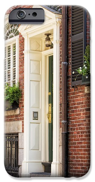 Recently Sold -  - Boston iPhone Cases - Acorn Street Door And Windows iPhone Case by Susan Candelario