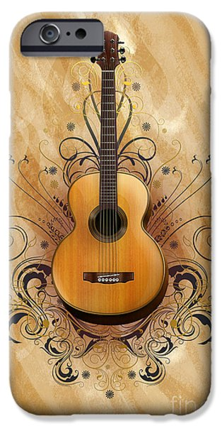 Sound Mixed Media iPhone Cases - Acoustic Elegance iPhone Case by Bedros Awak