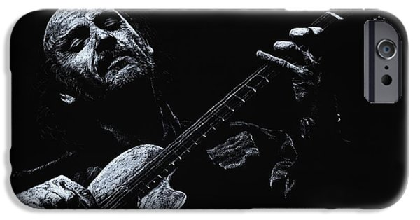 Celebrities Pastels iPhone Cases - Acoustic Serenade iPhone Case by Richard Young