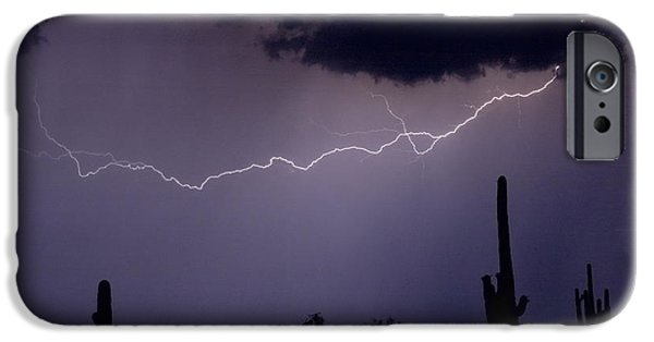 Photography Lightning iPhone Cases - Across the Desert iPhone Case by James BO  Insogna