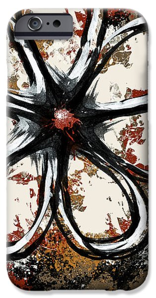 Spray Paint Mixed Media iPhone Cases - Acrylic Flower  iPhone Case by Melissa Smith