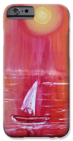 Boat iPhone Cases - Acrylic MSC 019 iPhone Case by Mario Sergio Calzi