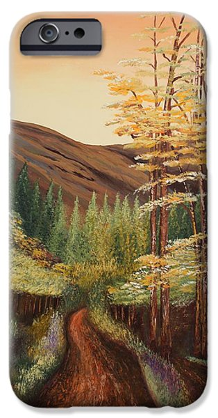 Forest iPhone Cases - Acrylic MSC 082 iPhone Case by Mario Sergio Calzi