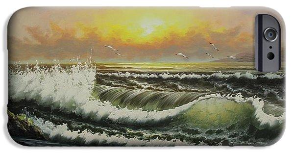 Sea Birds iPhone Cases - Acrylic MSC 148 iPhone Case by Mario Sergio Calzi