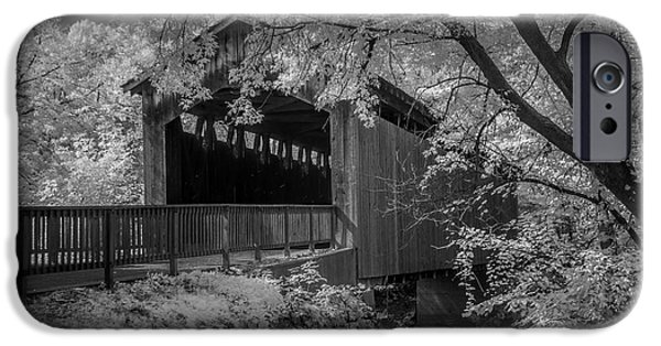 Covered Bridge iPhone Cases - Ada Covered Bridge in West Michigan iPhone Case by Randall Nyhof