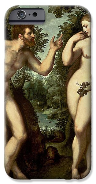 Serpent iPhone Cases - Adam and Eve iPhone Case by Peter Paul Rubens