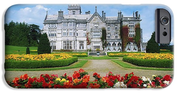 Facade iPhone Cases - Adare Manor Golf Club, Co Limerick iPhone Case by The Irish Image Collection
