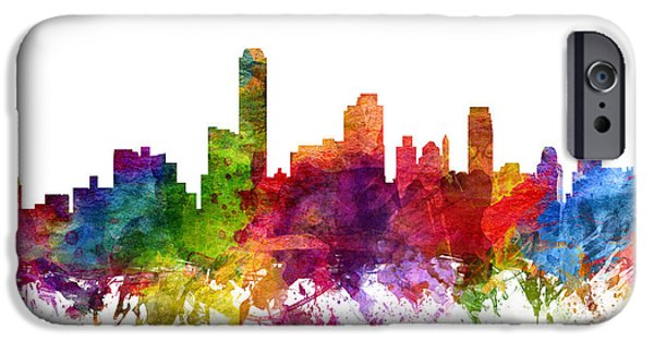 Australia Drawings iPhone Cases - Adelaide Australia Cityscape 06 iPhone Case by Aged Pixel