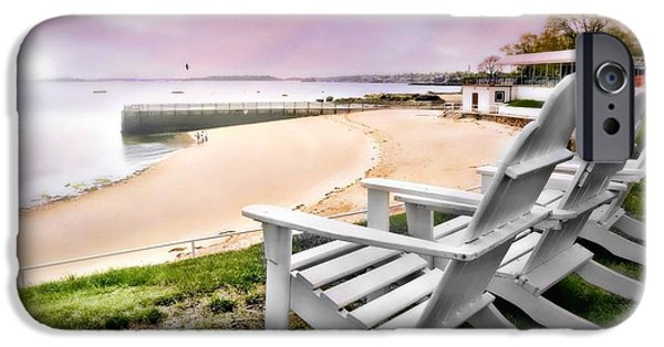 York Beach iPhone Cases - Adirondack iPhone Case by Diana Angstadt