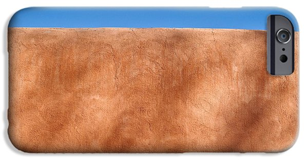 Textural iPhone Cases - Adobe Wall Santa Fe iPhone Case by Steve Gadomski