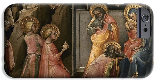 Royal Family Arts iPhone Cases - Adoration Of The Kings iPhone Case by Granger