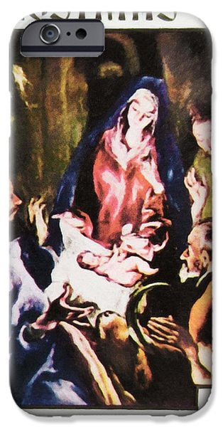 Painter Photographs iPhone Cases - Adoration the Shepherds by El Greco iPhone Case by Lanjee Chee