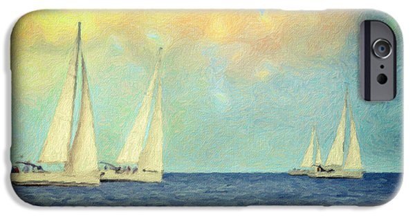 Beautiful Scenery Paintings iPhone Cases - Adrift iPhone Case by Taylan Soyturk