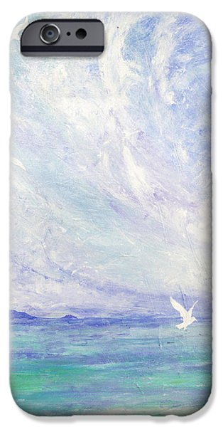 Flying Seagull iPhone Cases - Aerial Ballet iPhone Case by Margaret Coxall