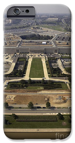 Aerial Photograph Of The Pentagon iPhone Case by Stocktrek Images