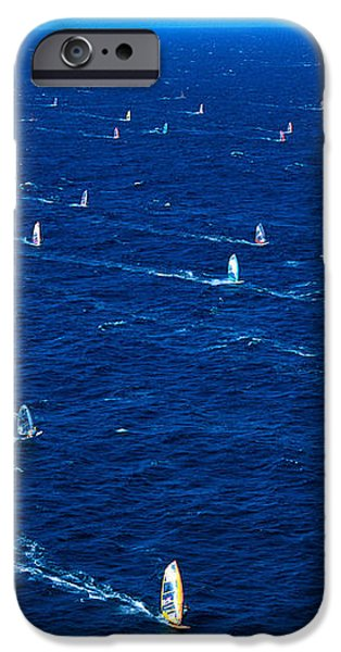 Aerial View Of Windsurfer iPhone Case by Erik Aeder - Printscapes