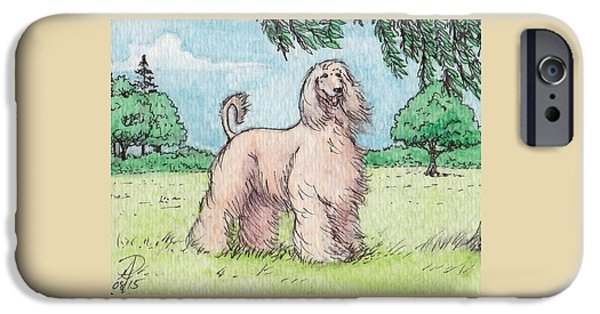 Afghan Hound Watercolor iPhone Cases - Afghan Hound iPhone Case by Patsy Fumetti  - SouthWest Design Studio