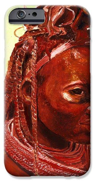 African Beauty iPhone Case by Enzie Shahmiri