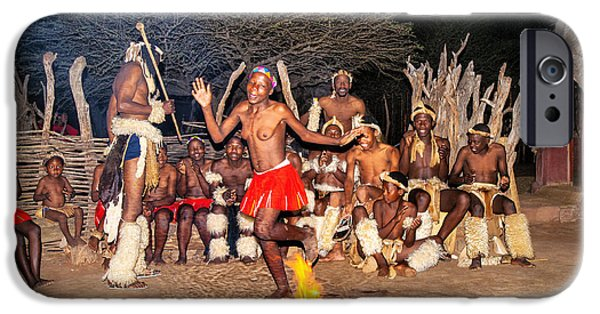 Nation iPhone Cases - African Fire Dance iPhone Case by Rick Bragan