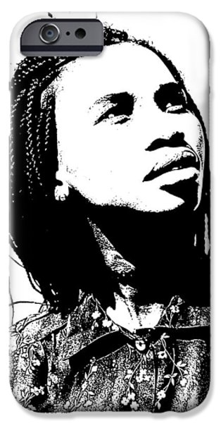 Model iPhone Cases - African Model iPhone Case by Benny Makhulu
