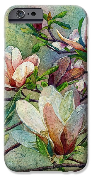 Magnolia iPhone Cases - After a Fresh Rain iPhone Case by Hailey E Herrera