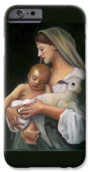 Christmas Pastels iPhone Cases - After Bouguereau iPhone Case by Joyce Geleynse