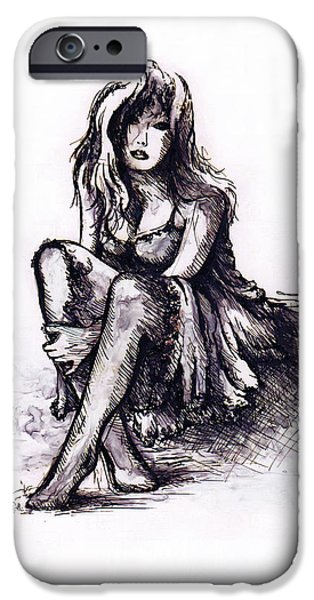 Girl iPhone Cases - After the party iPhone Case by Rachel Christine Nowicki
