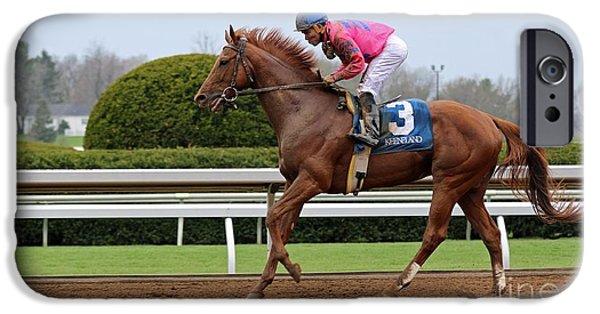 Keeneland iPhone Cases - After The Race iPhone Case by Angela Gallagher