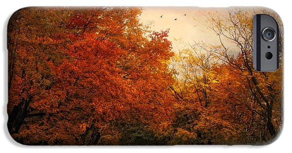 Autumn Road iPhone Cases - After the Rain iPhone Case by Jessica Jenney