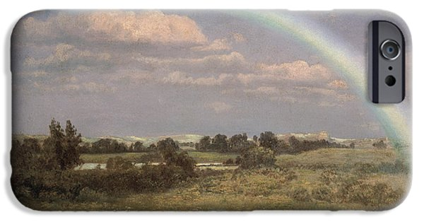 Recently Sold -  - Storm iPhone Cases - After the Storm iPhone Case by Albert Bierstadt